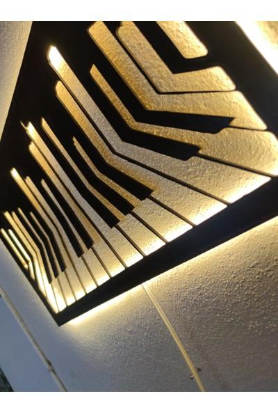 Dekoraven Piyano LED Işıklı Ahşap Tablo