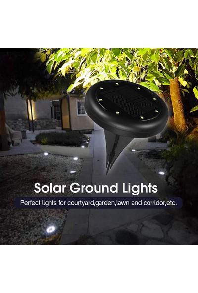 Xyanling 8 LED Dayanıklı IP65 Su Geçirmez Bahçe Dekor Zemin Işıkları Güneş Enerjisi Dış Aydınlatma Yeraltı Lambaları