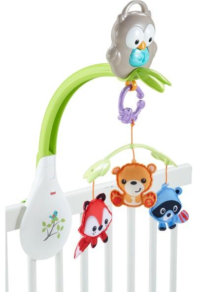 Fisher-Price 3'ü 1 Arada Baykuş Dönence Müzikli Beşik Dönencesi Bebek Arabası Dönencesi ve Yanınızda Taşıyabileceğiniz Oyuncak Bir Arada CDM84