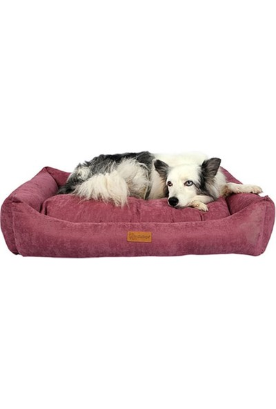 Dubex Cookie Kadife Kedi ve Köpek Yatağı Gül Kurusu Small