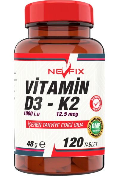 Nevfix Vitamin D3 K2 120 Tablet D3 1000 Iu K2 12.5 Mcg