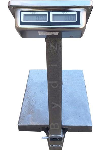 Bydiz Kmz 300 kg Kapasite 50 gr Hassasiyet Çift Ekranlı Ön ve Arka Çelik Tuşlu Kantar Terazi