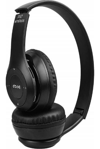 Syrox P47 Ekstra Bass Kablosuz Bluetooth Kulak Üstü Kulaklık