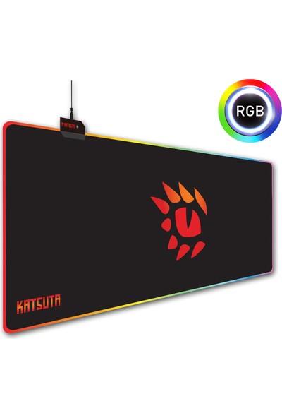 Katsuta Mp-19 80X30CM Rgb Işıklı Mousepad Gaming Oyuncu Mouse Pad