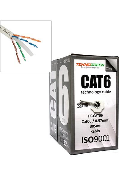 Teknogreen Tk-Cat6 CAT06/0.57MM 305MT Kablo