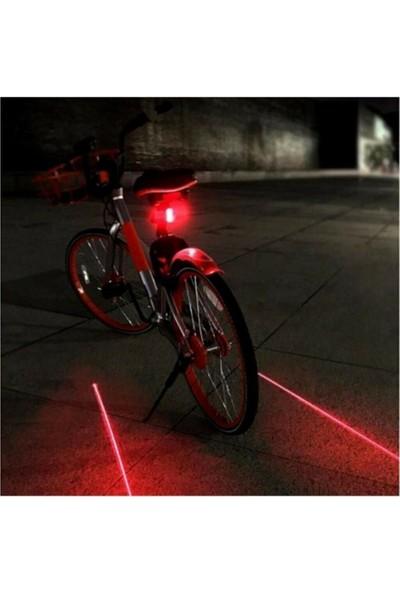 Gıda Bizde Bisiklet Lambası Lazer Şeritli Güvenlik Arka Stop Lamba LED Işık