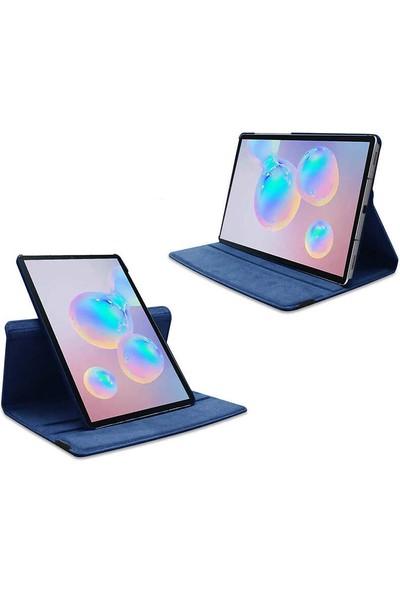 """Fibaks Samsung Galaxy Tab A7 SM-T500 2020 10.4"""" Kılıf + Ekran Koruyucu + Kalem Uyku Modlu 360 Derece Dönebilen Standlı Tablet Kılıfı Siyah"""