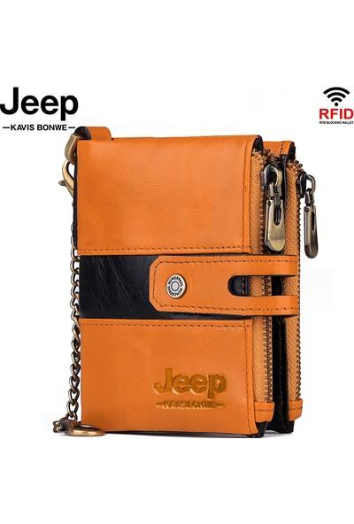 Jeep Erkek Deri Kartlık Pratik Cüzdan (Yurt Dışından)