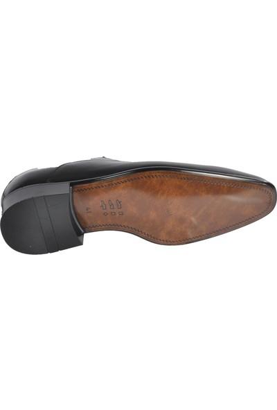 Fosco Siyah Erkek Hakiki Deri Klasik Ayakkabı