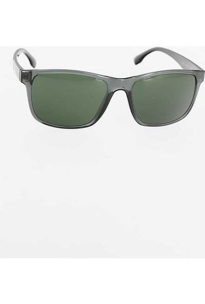 Clariss Gri Renk Çerçeveli Siyah Renk Saplı Erkek Güneş Gözlüğü