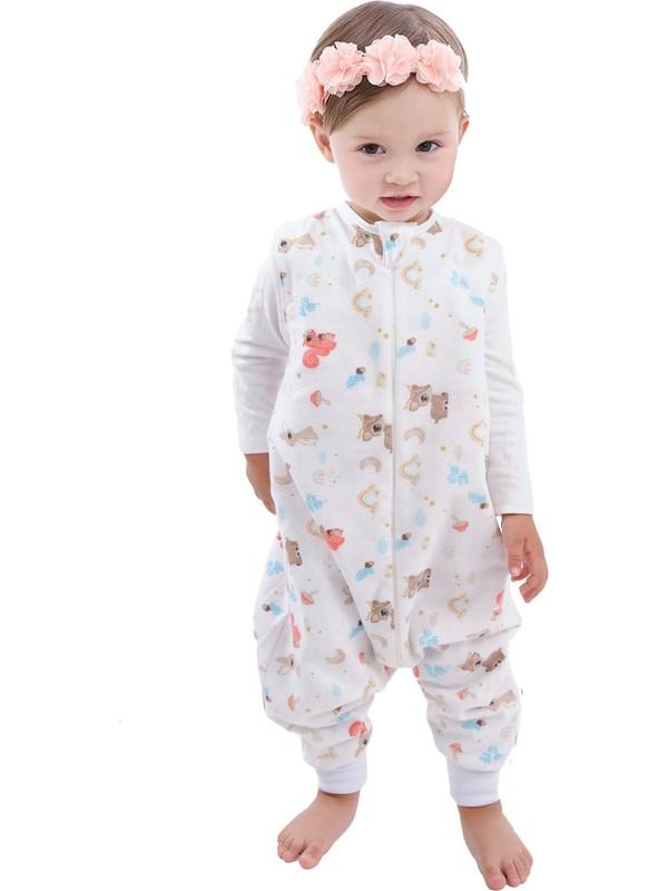 Enhitbaby Çocuk Bebek Çift Katlı Pazen Uyku Tulumu 1 Tog 6-12 Ay
