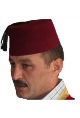 Tahtakale Market Osmanlı Fes Püsküllü Yetişkin Bordo