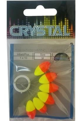 Crystal Renkli Kauçuk Stopper No:5 (6'lı)