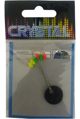 Crystal Renkli Kauçuk Stopper M (6'lı)