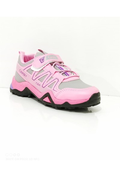 Carby Çocuk Cırtlı Lastikli Cilt Spor Ayakkabı Filet Carby 2024