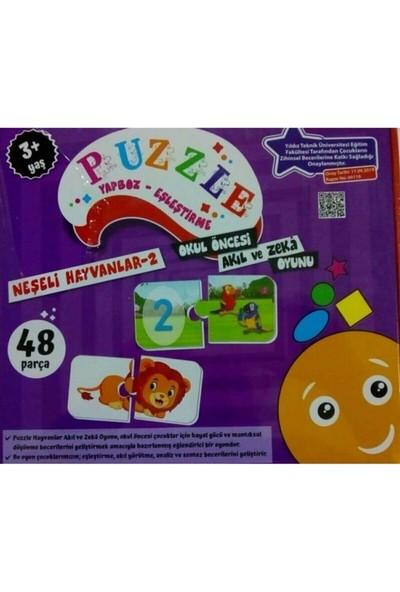 Beceri Dünyası Neşeli Hayvanlar 2-Eşleştirme Puzzle