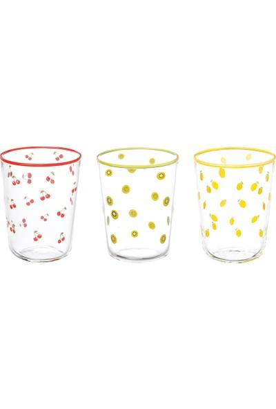 English Home Fruity Cam 6'lı Kahve Yanı Su Bardağı 100 ml Renkli
