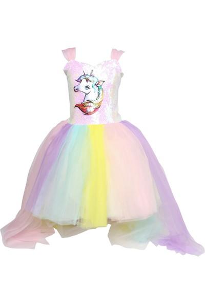 Janjan Kostüm Unicourn Boynuzlu Kostüm