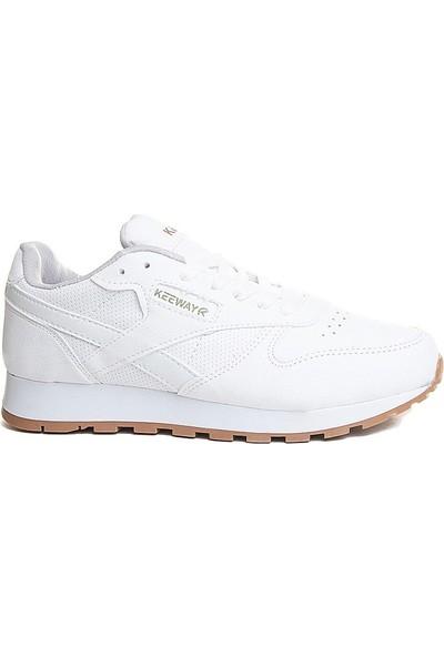 Keeway Beyaz Renk Kadın Spor Ayakkabı
