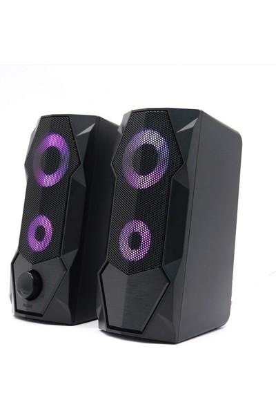 Versatile SP-V915 2.0 Gaming Işıklı 5W*2 USB Speaker Hoparlör