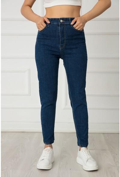 Kalopya Bayan Dar Paça Likralı Skinny Fit Jean Pantolon 22308