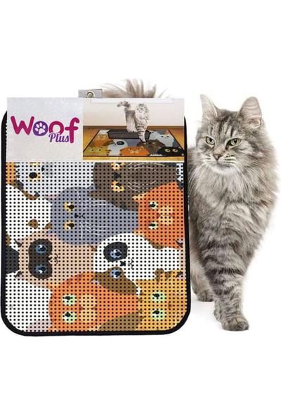 Woof Plus Kum Toplayan Elekli Tuvalet Önü Kedi Paspası 60 x 45 cm 1022