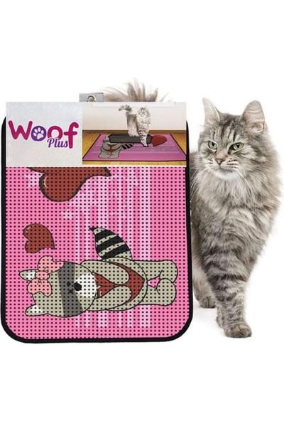 Woof Plus Kum Toplayan Elekli Tuvalet Önü Kedi Paspası 60 x 45 cm 1018
