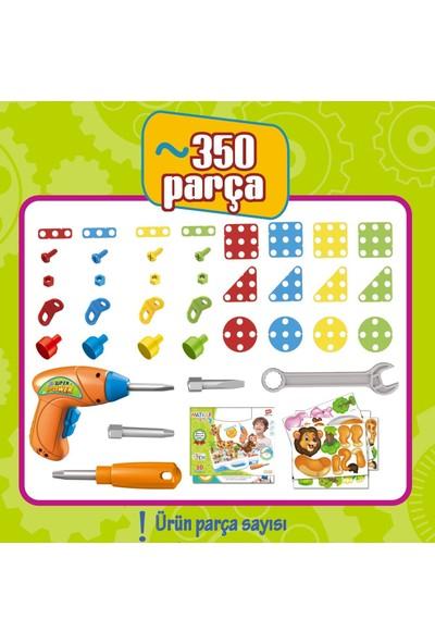 Birlik Oyuncak Eğitici Matkaplı Creative Puzzle 350 Parça 3D STEM
