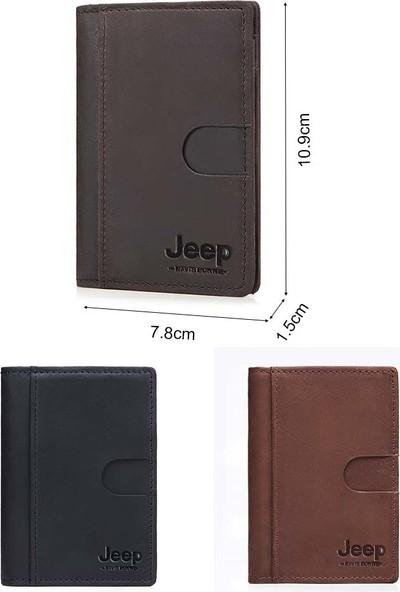 Jeep İtalyan Derisi Çok Amaçlı Cüzdan - Kahverengi (Yurt Dışından)