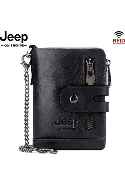 Jeep İtalyan Derisi Çok Amaçlı Cüzdan - Siyah (Yurt Dışından)