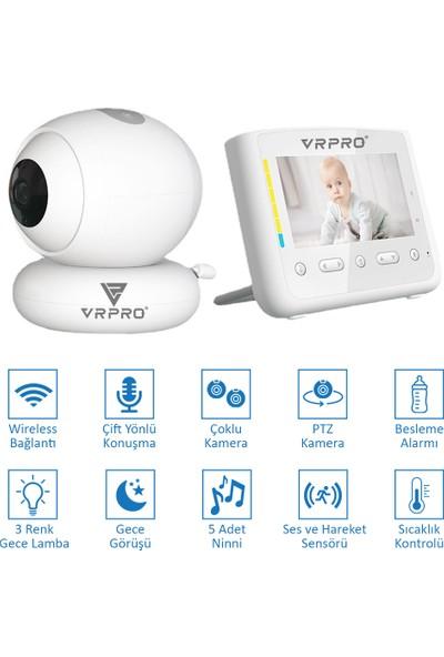 Vrpro 4.3 Inç Wifi Bebek Izleme Kamera Ninnili Çoklu Kamera Desteği Sıcaklık Kontrol
