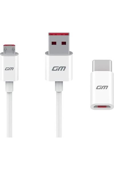 General Mobile Turbo Şarj Adaptörü Micro USB Kablo Set ve Dönüştürücü