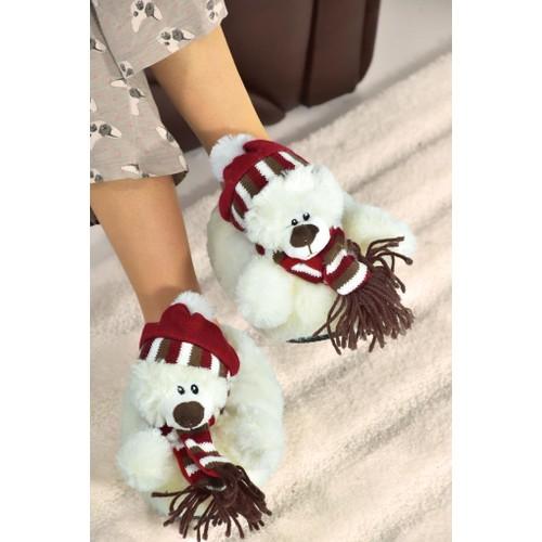 Mini Bonito Kız Çocuk Hayvanlı Panduf Ev Botu