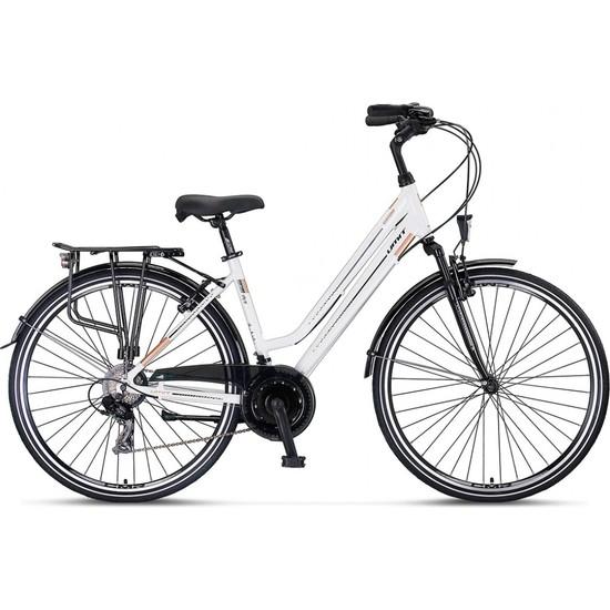 Ümit Bisiklet 2839 Ventura L-Dmd Bayan Şehir Bisikleti V 460H 28 Jant 21 Vites Beyaz Gold