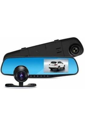 Kingboss SL-D95 Çift Kameralı Dikiz Ayna Ön Arka Araç Kamerası