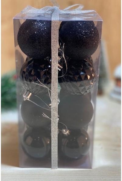 Beysüs Yılbaşı Çam Ağacı Süsü Cici Top 6 cm 16 Lı Siyah
