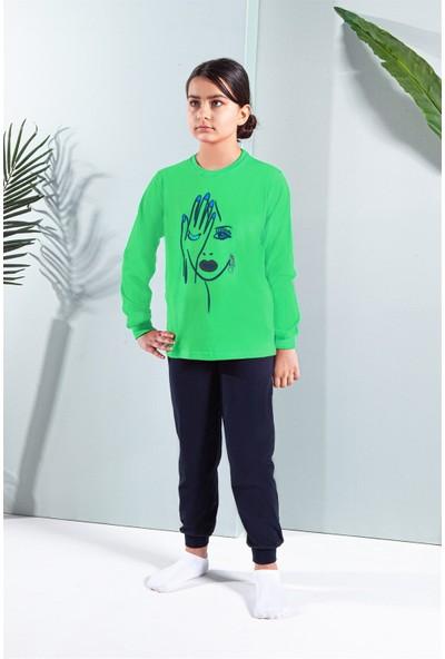 Erdem Uzun Kollu Kız Çocuk Pijama Takımı