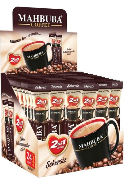Mahbuba 2si1 Arada Şekersiz Kahve 24x10gr