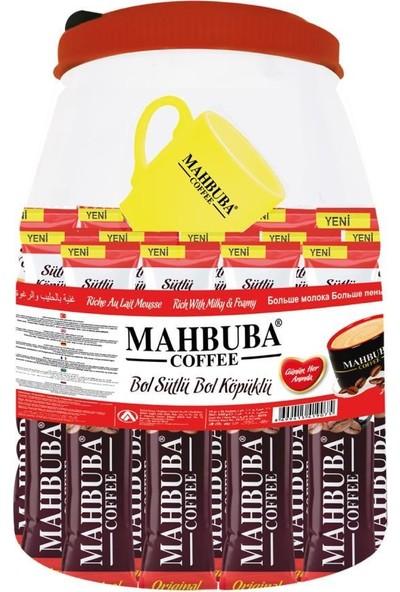 Mahbuba 3ü1 Arada Bol Sütlü Bol Köpüklü Kavanoz Kahve 36x18gr +Renkli Kupa Hediyeli