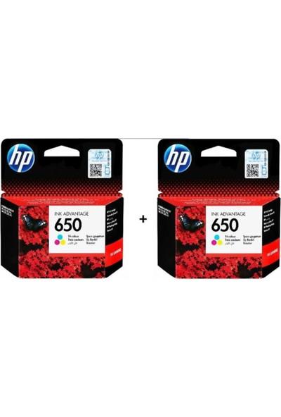 HP 650 Renkli 2'li Set Kartuş