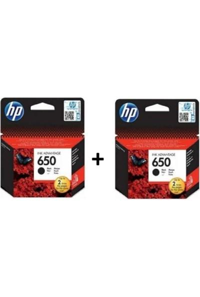 HP 650 Siyah 2'li Set Kartuş