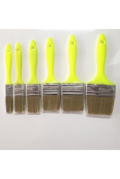 Elmas Kestirme Fırça Plastik Saplı 6 Parça Set