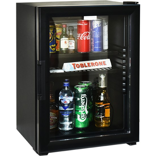 Elektromarla 45 Litre Cam Kapılı Minibar Mini Buzdolabı All Black Edition