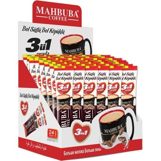 Mahbuba 3ü1 Arada Bol Sütlü Bol Köpüklü Kahve 24x18gr