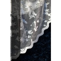 Evdepo Home Zambak Örme Tül Perde 1/2 Seyrek Pile - Nohut Rengi 130 x 200 cm
