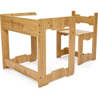 Minera 4-6 Yaş Martı Ahşap Montessori Çocuk Oyun, Çalışma ve Aktivite Masası ve Sandalyesi