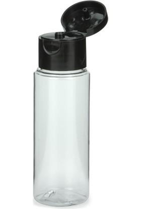 Güvenç Ambalaj 20 ml - Açmalı Kapaklı Plastik Boş Şişe - Kolonya Şişe - Dezenfektan Şişe (50 Adet)