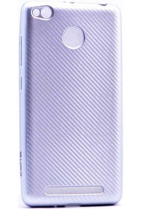 Evastore Xiaomi Redmi 3s Kılıf I- Karbon Silikon