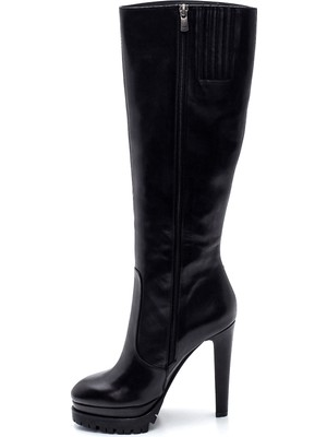 Derimod Kadın Deri Platform Topuklu Çizme