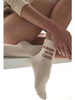 Penti Ekru Cool Coffee Soket Çorap